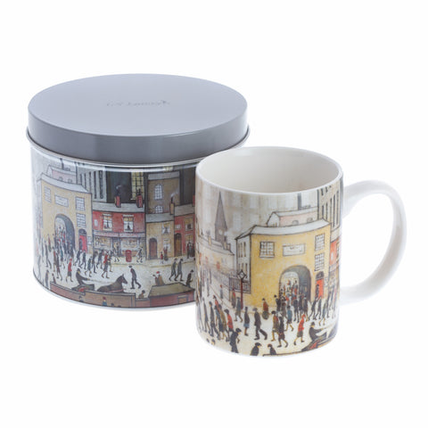John Beswick Lowry Collection Mug & Tin Set - Coming from the Mill