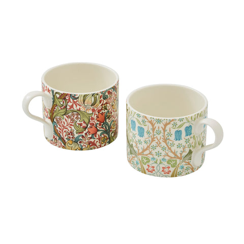 COMING SOON Morris & Co Mugs Set of Two Blackthorn & Golden Lily