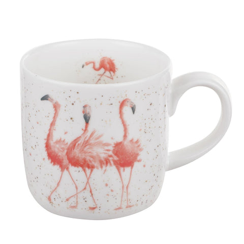 Wrendale Fine Bone China Mug - Flamingo ( Pink Ladies )
