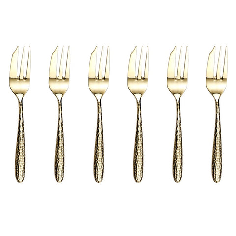 Arthur Price Monsoon Home Champagne Mirage 6 Pastry Forks Set