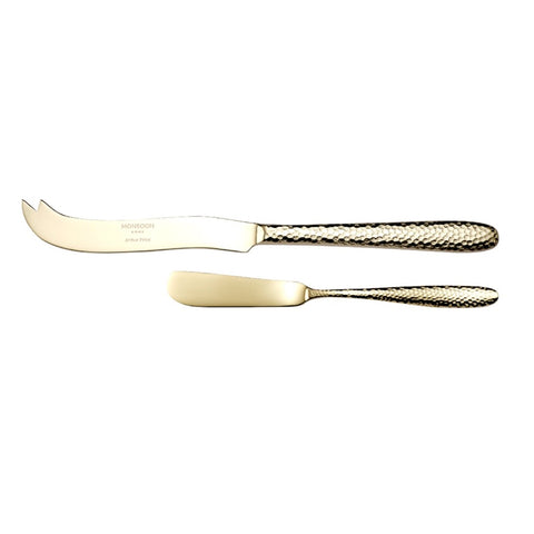 Arthur Price Monsoon Home Champagne Mirage Cheese & Butter Knife Set