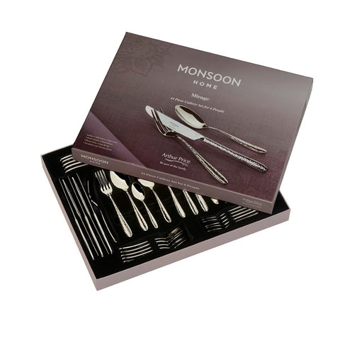 COMING SOON - Arthur Price Monsoon Home Mirage 44 Piece 6 Person Cutlery Set