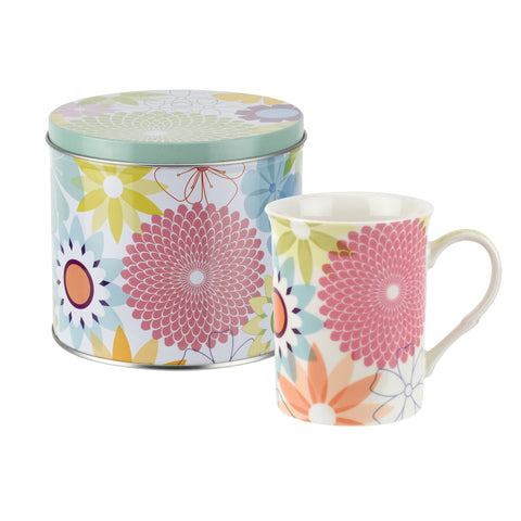 Crazy Daisy Mug & Tin Set