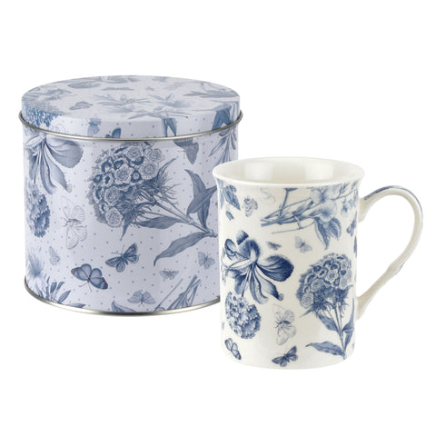 Botanic Blue Mug & Tin Set