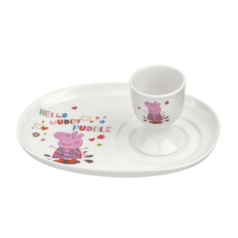 Peppa Pig Egg & Soldier Plate Set