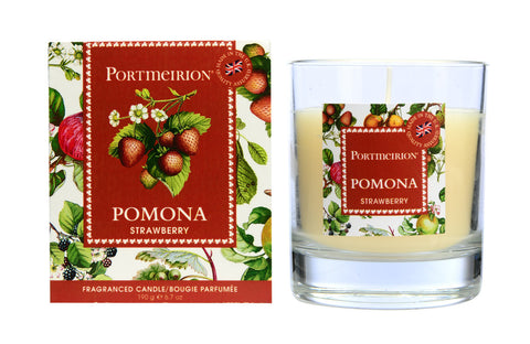 Pomona Wax Filled Glass Candle - Strawberry