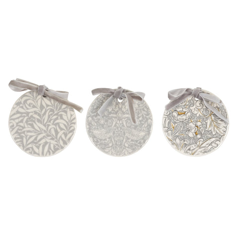 COMING SOON Morris & Co Christmas Decorations Set of Three Pure Morris
