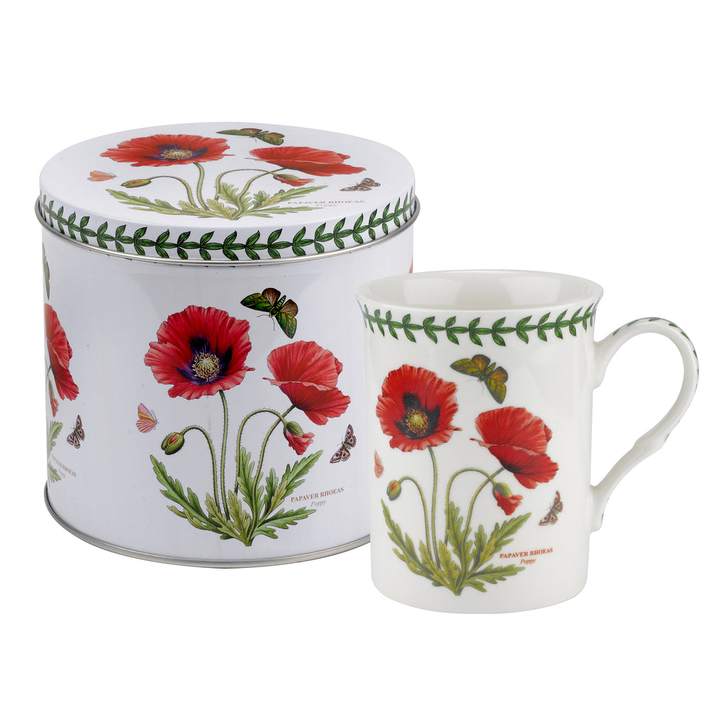 Botanic Garden Poppy Mug & Tin Set