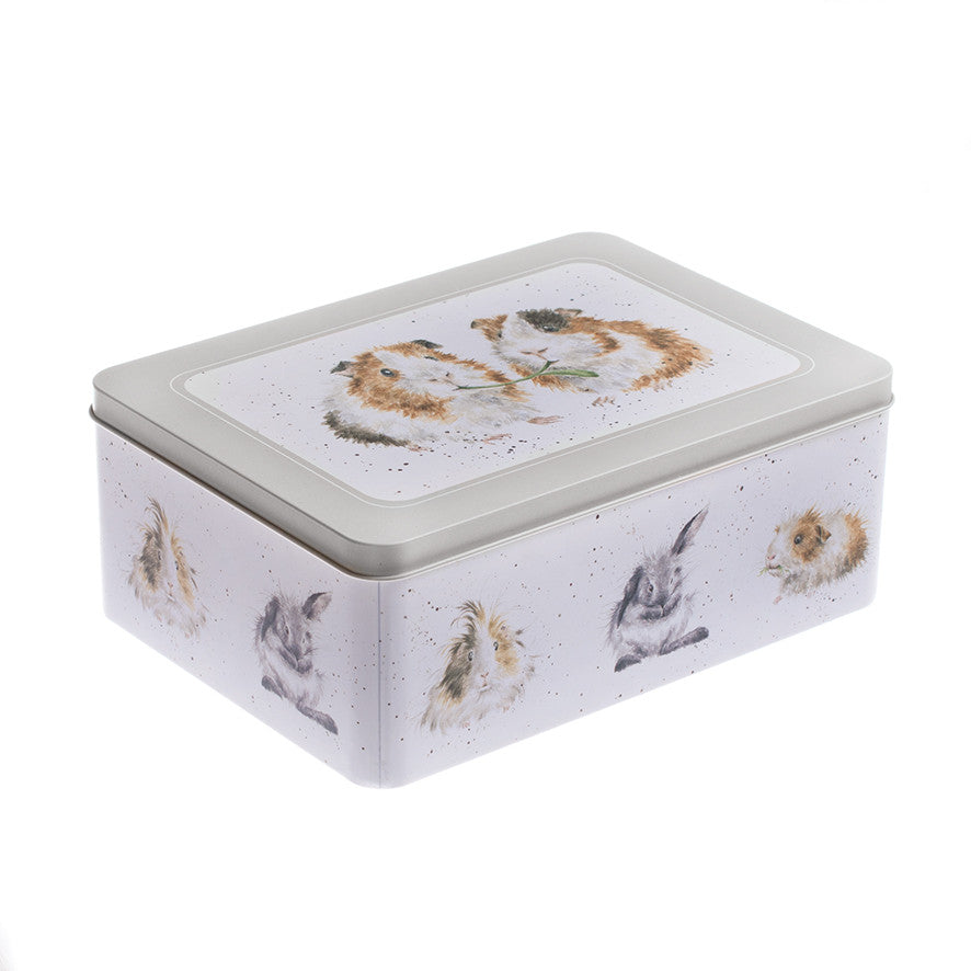 Wrendale Rectangular Tin - Guinea Pigs