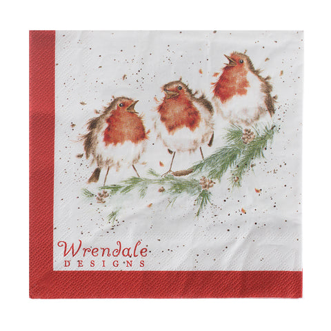 Wrendale Lunch Napkins - Robin