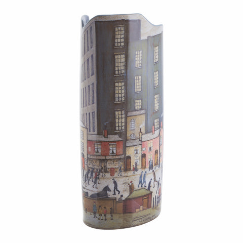 John Beswick Silhouette d'art Vase - Lowry Coming From The Mill