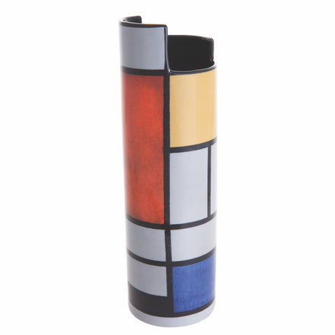 John Beswick Silhouette d'art Vase - Mondrian Composition with Large Red Plane