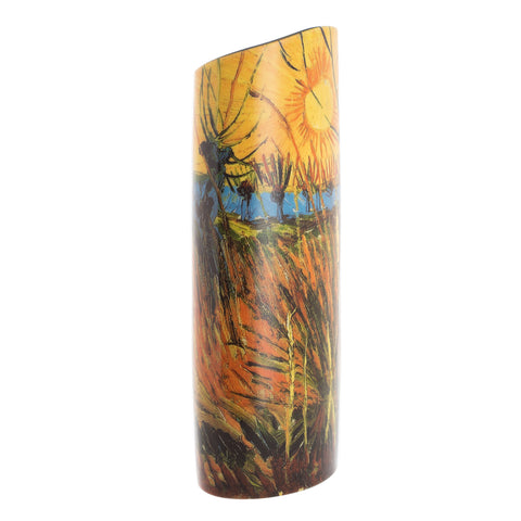 John Beswick Silhouette d'art Vase -Van Gogh Willows at Sunset