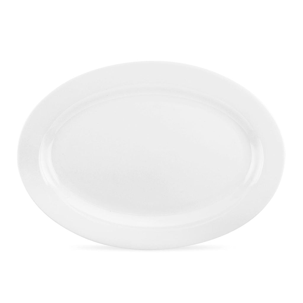 "Royal Worcester Serendipity Oval Platter 32cm / 12.5"" - White"