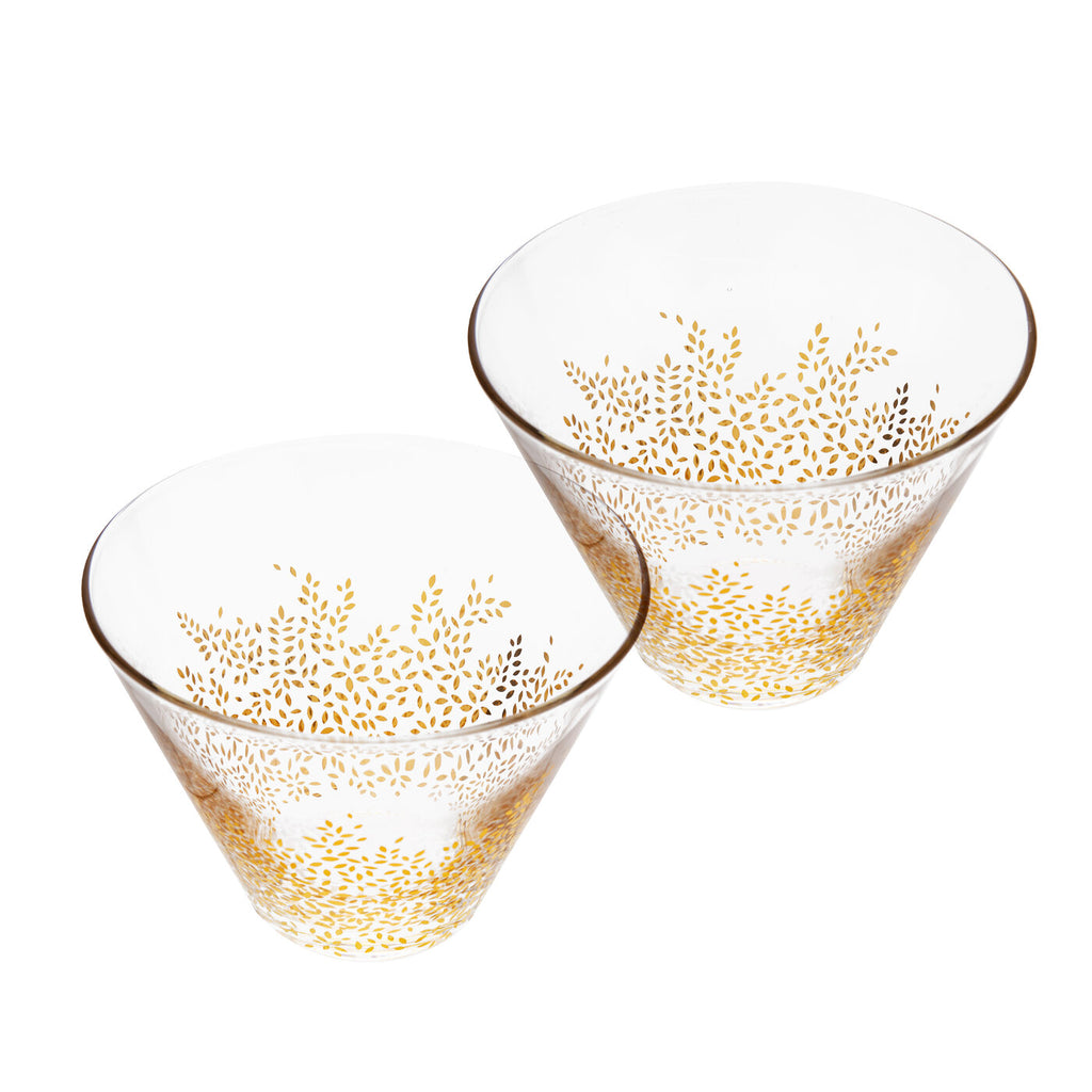 COMING SOON Sara Miller Set of 2 Glass Bowls Chelsea Collection