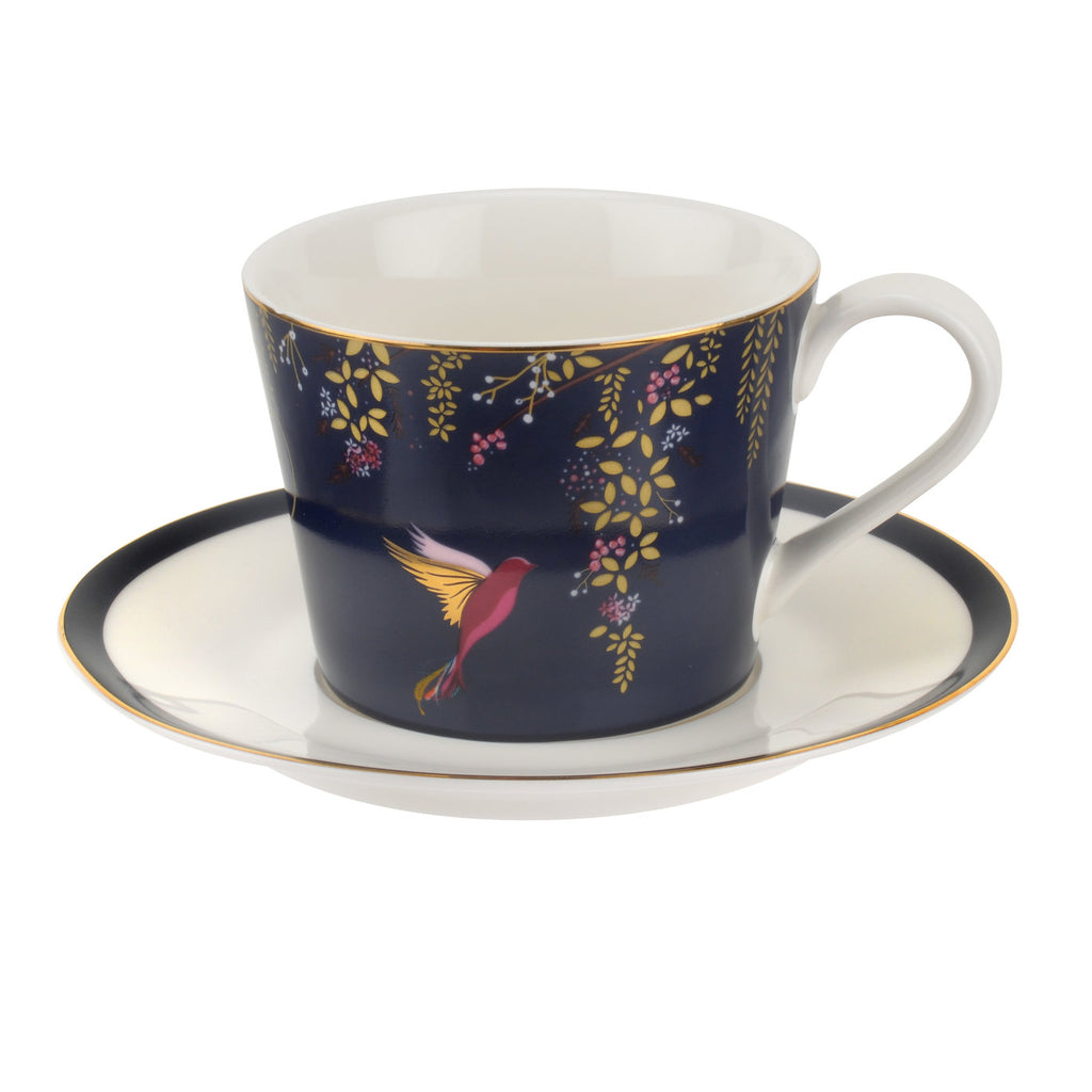 Sara Miller Teacup & Saucer - Chelsea Collection - Navy