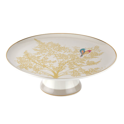 Sara Miller Footed Cake Stand - Light Grey - Chelsea Collection