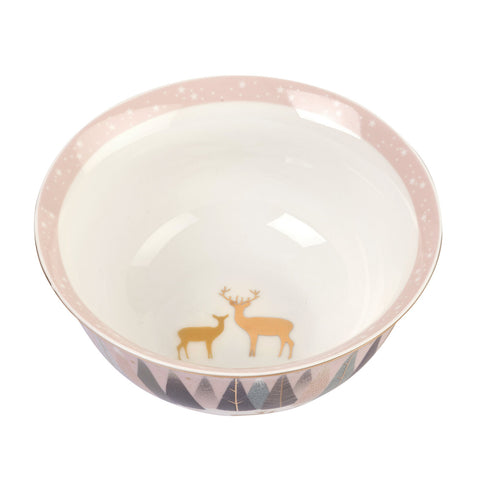 Sara Miller Candy Bowl Frosted Pines Deer