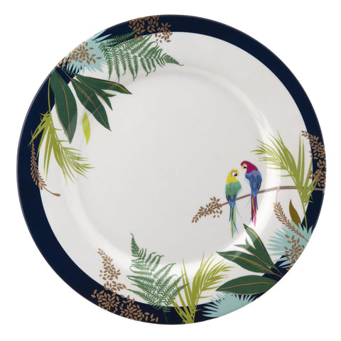 Sara Miller Parrot Collection Melamine Dinner Plate