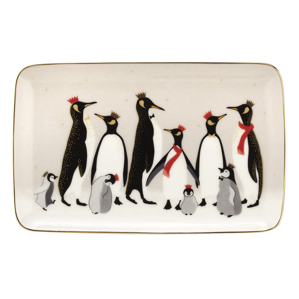 Sara Miller Trinket Tray - Penguin Christmas Collection
