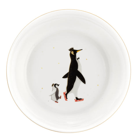 Sara Miller Dipping Bowls Set of 2 Penguin Christmas Collection