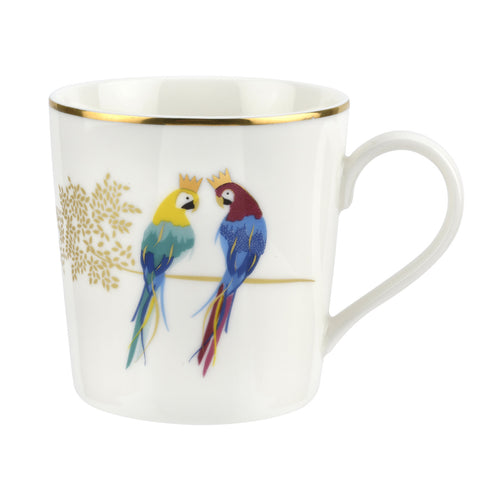 Sara Miller Mug - Piccadilly Collection - Posing Parrots