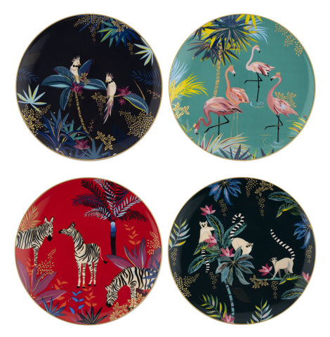Sara Miller Dessert Plates Set of 4 - Tahiti Collection