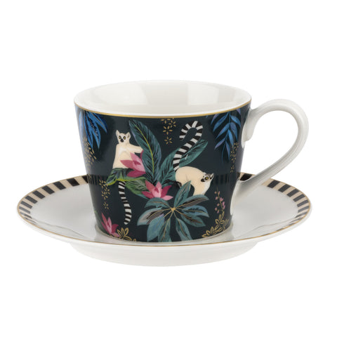 Sara Miller Teacup & Saucer - Tahiti Collection - Lemur