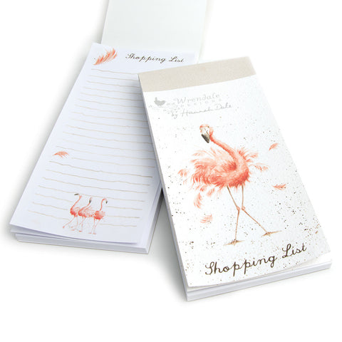 Wrendale Shopping Pad - Flamingo