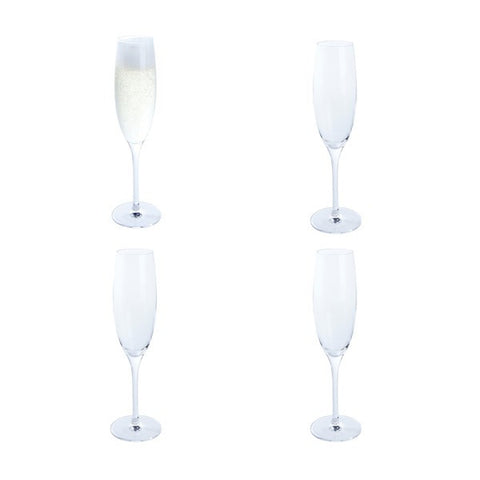 Dartington Crystal Festive Cheer Prosecco Flutes (Set of 4)