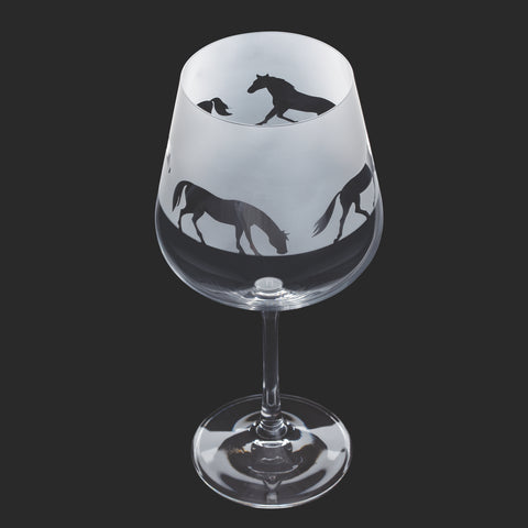Dartington Crystal Aspect Gin Copa / Wine Glass Horse