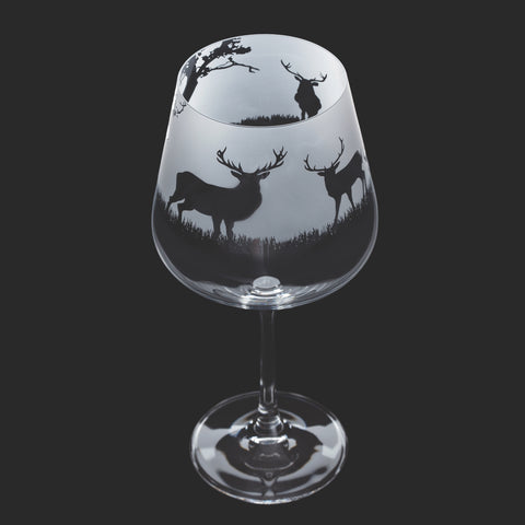 Dartington Crystal Aspect Gin Copa / Wine Glass Stag