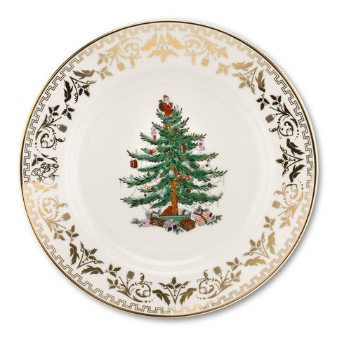 "Spode Christmas Tree Plate  20 cm / 8"" - Gold"