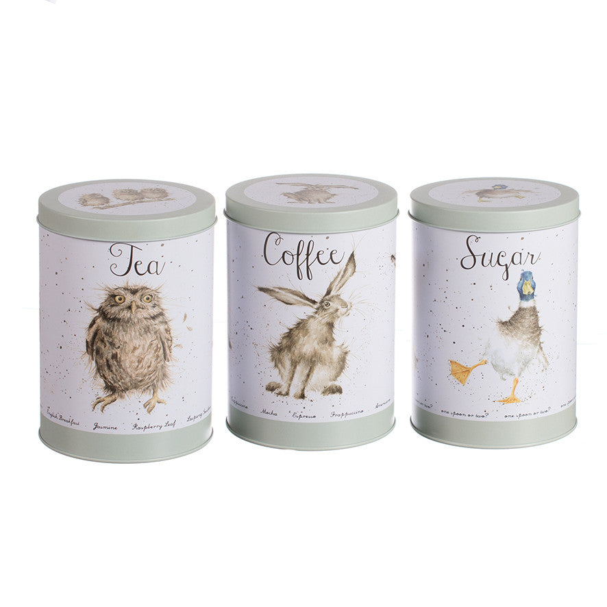 Wrendale  Tea, Coffee & Sugar Canisters  ( Set of 3 )