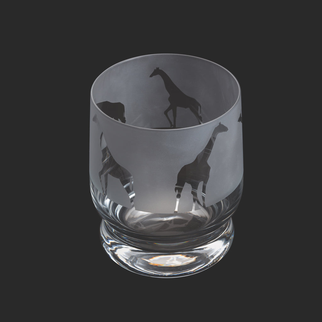 Dartington Crystal Aspect Tumbler Giraffe
