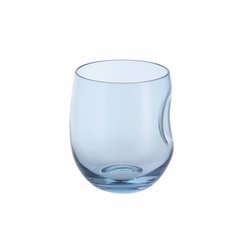 Dartington Crystal Hollow Set of Two Tumblers - Ink Blue