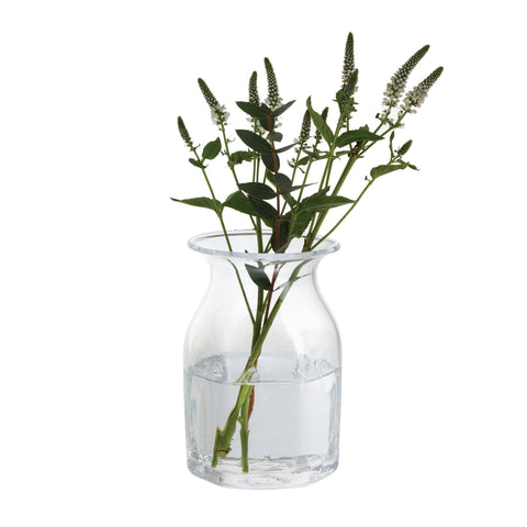 Dartington Crystal Finbarr Hexagonal Vase Clear 16cm
