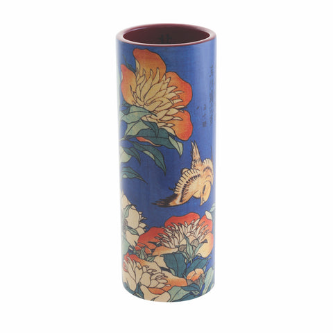 John Beswick Museum Collection Medium Vase - Hokusai Canary and Peony