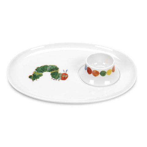 The Very Hungry Caterpillar Egg & Soldier Plate Set