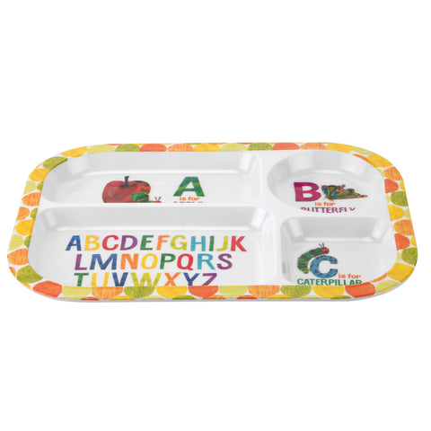 The Very Hungry Caterpillar Sectional Tray - Melamine
