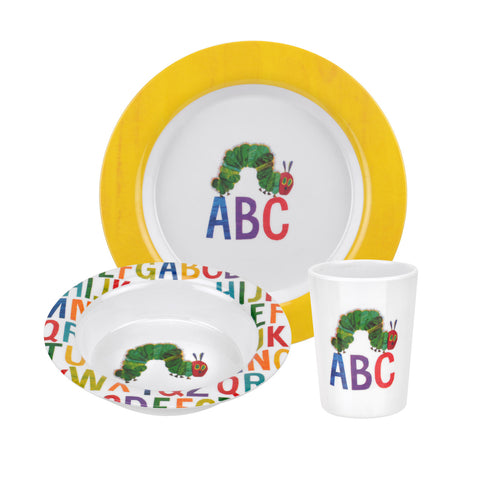 The Very Hungry Caterpillar 3 Piece Set ABC - Melamine