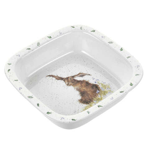 Wrendale Deep Square Roasting Dish - Hare