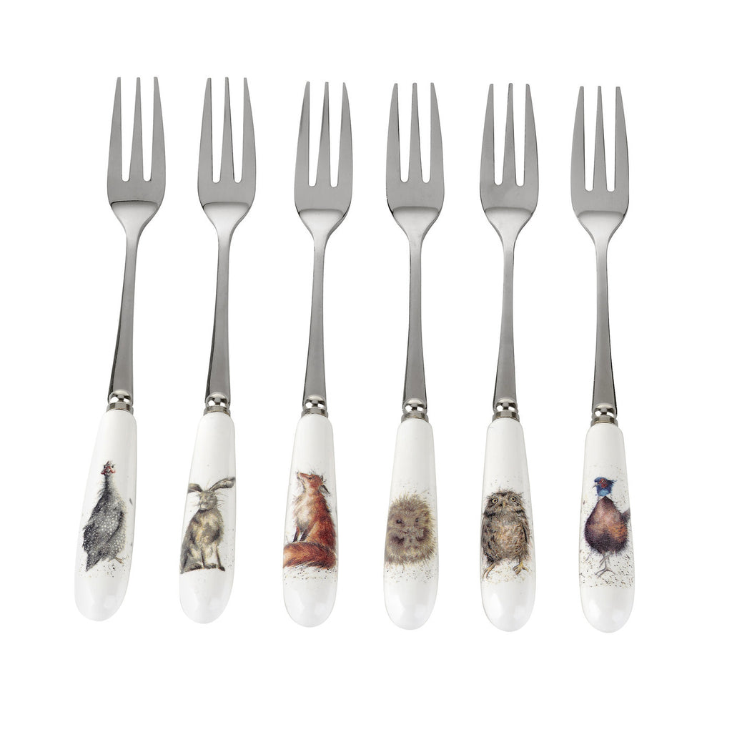 Wrendale Pastry Forks S/6