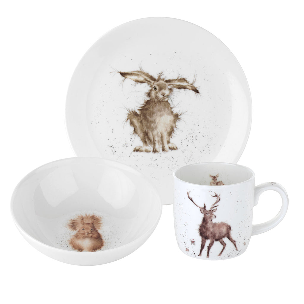 Wrendale 3pce set (side plate, bowl and mug)