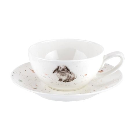 Wrendale Small Cup & Saucer - Rabbit