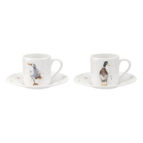 Wrendale Demitasse Cup & Saucer -  GIFT BOX Set of 2