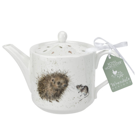 Wrendale Teapot 0.6L / 1pt - Hedgehog & Mice