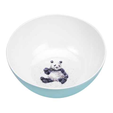 Wrendale Melamine Large Deep Salad Bowl - Panda