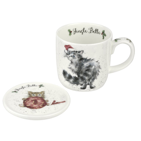 Wrendale Mug & Coaster Set - Christmas Collection