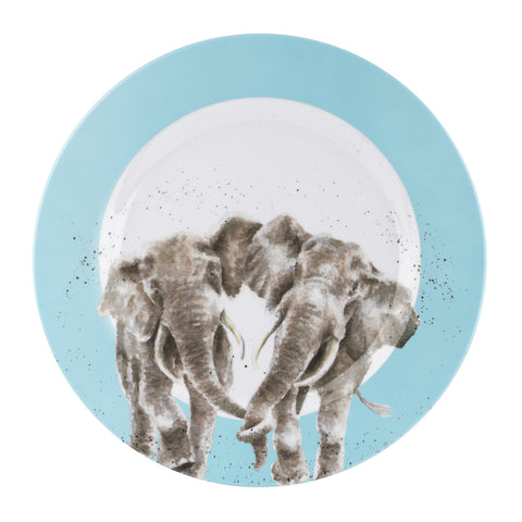 Wrendale Melamine Dinner Plate - Elephants
